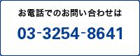 お電話でのお問い合わせは03-3254-8641